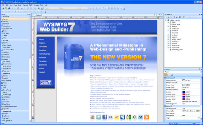 WYSIWYG Web Builder full screenshot